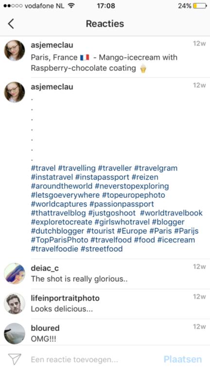 verkopen via instagram