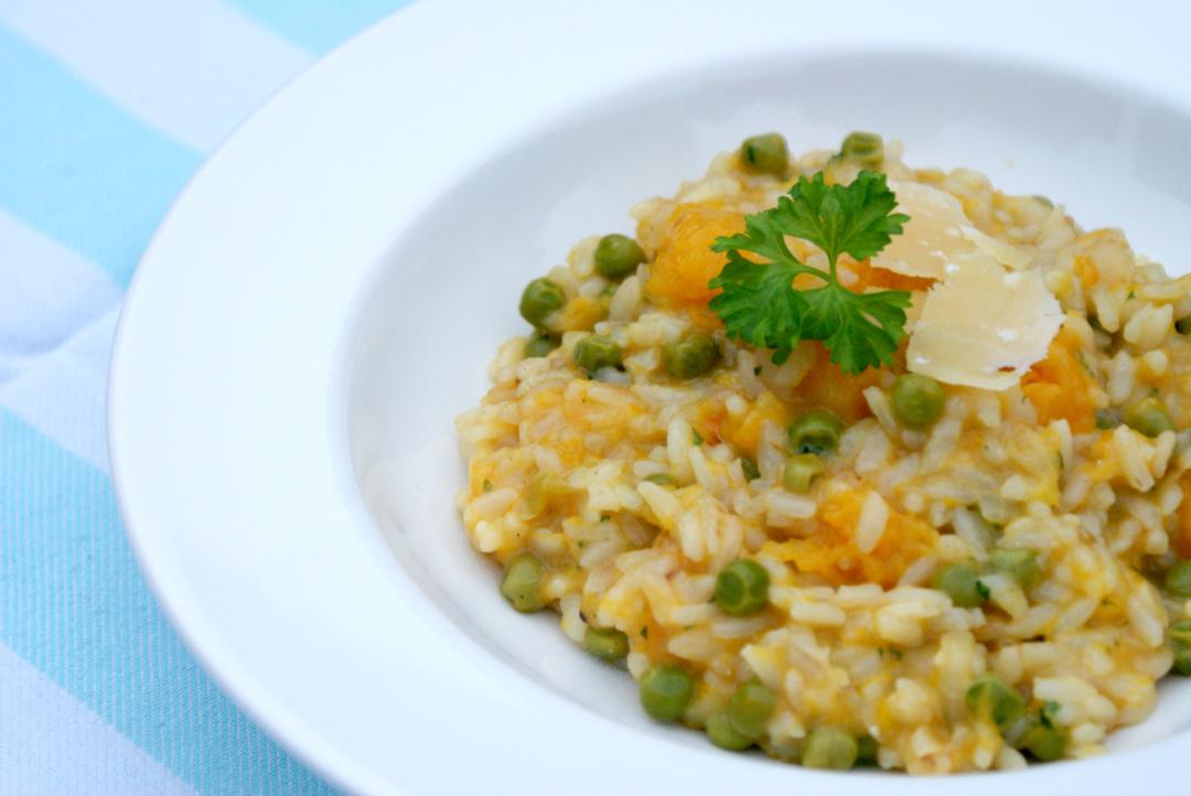 Recept: Vegetarische risotto met pompoen