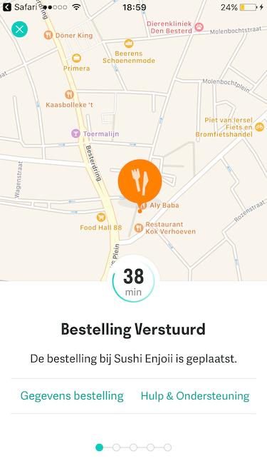 bezorgservice Deliveroo in Tilburg